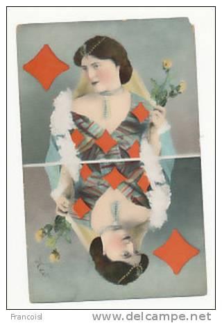 Reine De Carreau ( Jeu De Cartes). 1906 - Cartes à Jouer