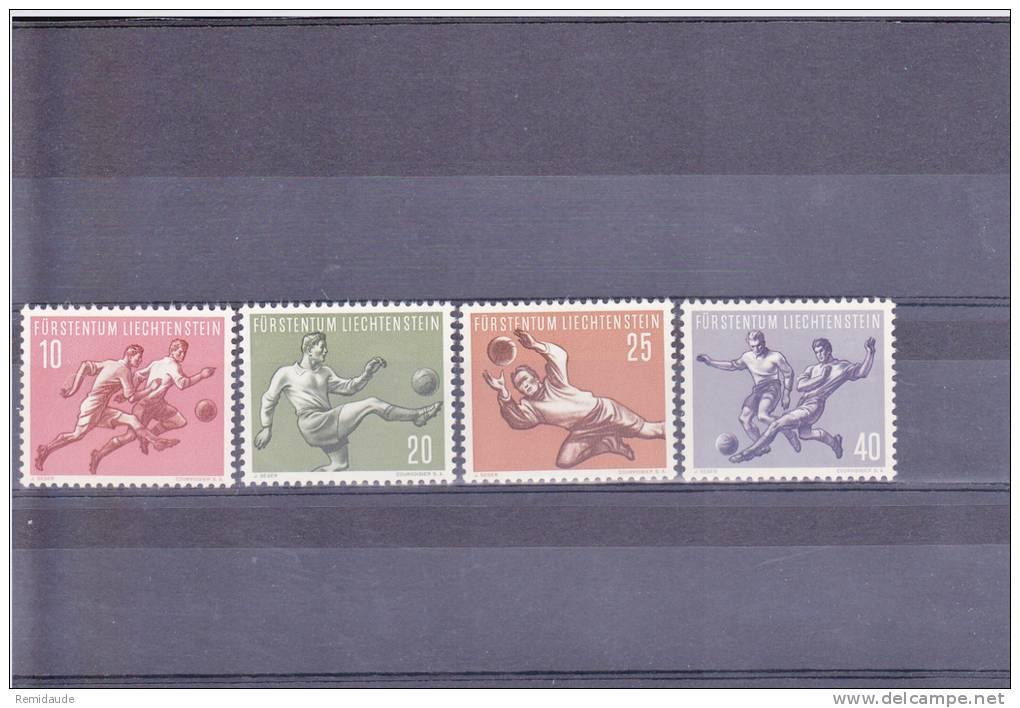 LIECHTENSTEIN - YVERT N°284/287 ** - COTE  = 60 EUR. - FOOT - Liechtenstein
