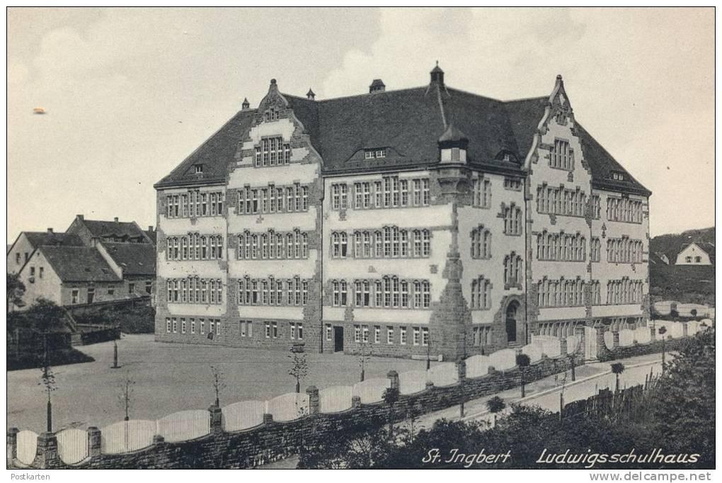 ALTE POSTKARTE ST. INGBERT LUDWIGSSCHULHAUS SAAR SAARGEBIET Schule School école Cpa Postcard AK Ansichtskarte - Saarpfalz-Kreis