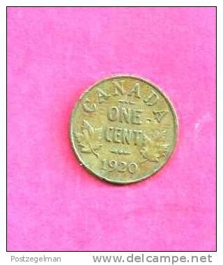 CANADA 1920, Circulated Coin, VF, 1 Cent George V, Bronze, Km 28, C90.022 - Canada