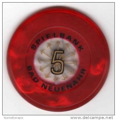 Allemagne : Jeton De Casino Spielbank Bad Neuenahr 5 DM - Casino