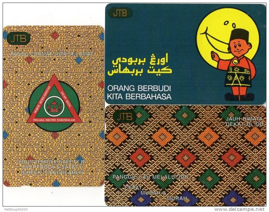 TELECARTES MAGNETIQUES   BRUNEI     ( LOT DE 3 ) - Brunei