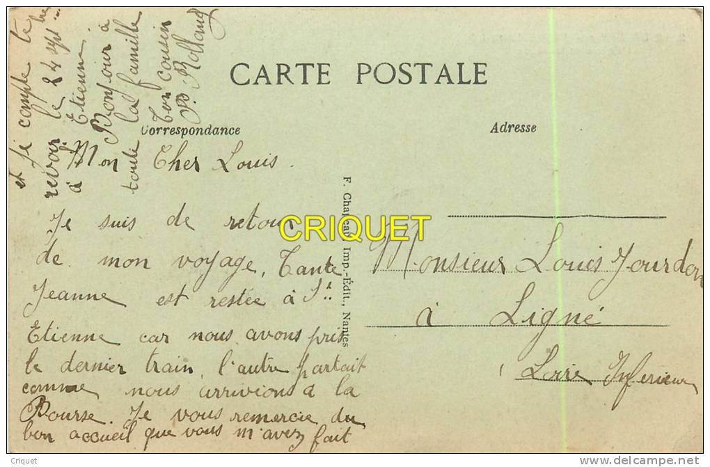 Cpa 44 Le Dresny En Plessé, Eglise Et Place - France