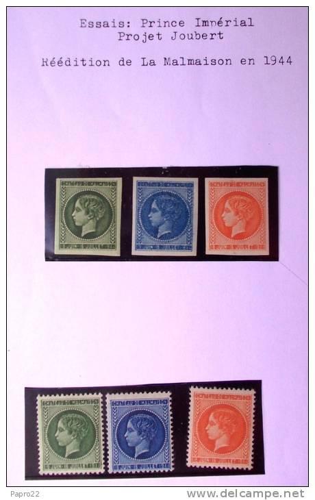 Essai Prince Impérial Projet Joubert Réédition Malmaison 1944 Luxe  (possibilite De L Avoir En Bloc De 4) - Proofs