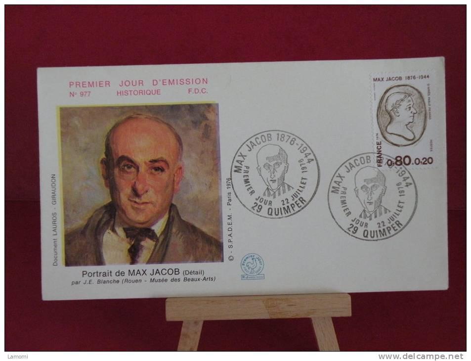 FDC -  Max Jacob - 29 Quimper -  22.7.1976 - France - FDC