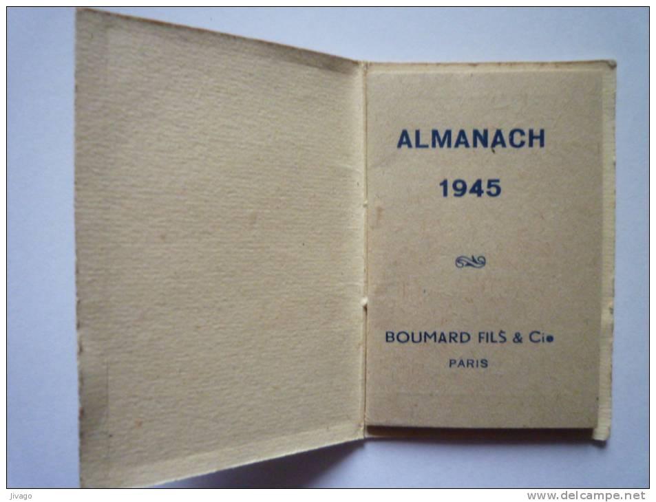 Mini  ALMANACH  1945  (Format 3,8 X 5,8 Cm) - Calendriers