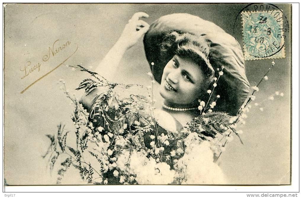 """Mode - Chapeaux - Lucy NANON (ou MANON) Artiste De Revues, Chanteuse """"gommeuse"""" (Scala, Folies-Bergère) - Artistes"""