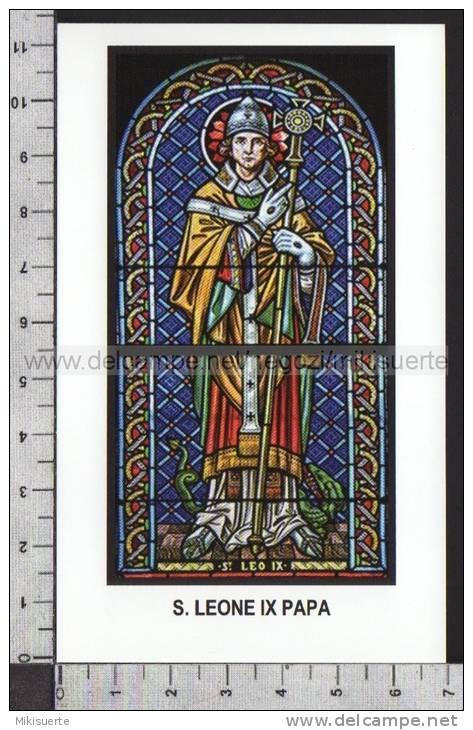 Xsa-11454 S. San LEONE IX PAPA BRUNONE DI EGISHEIM TOUL POPE Santino Holy Card - Religion & Esotérisme