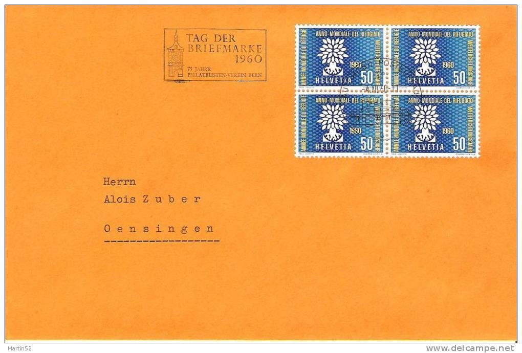 Tag Der Briefmarke BERN 1960 (Autopost-Stempel)  Mit Zu 353 Mi 694 (Zumstein CHF 10.00 ++) - Dag Van De Postzegel