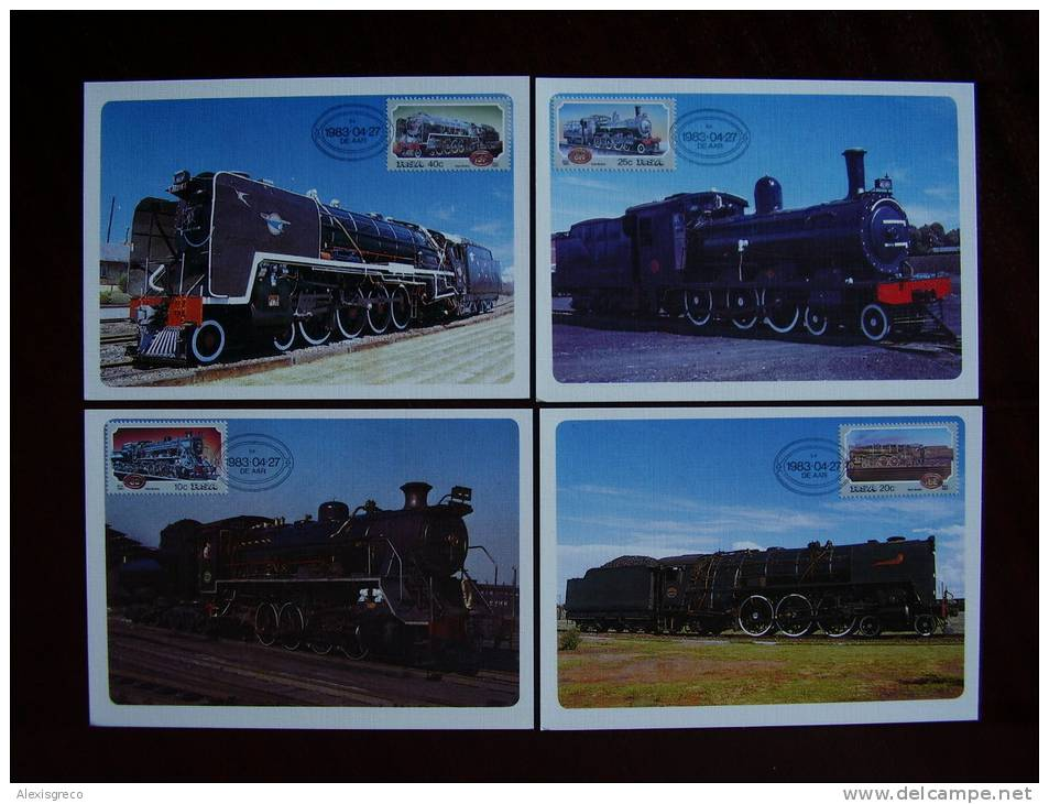 SOUTH AFRICA 1983 STEAM LOCOTIVE Issue Of 22nd.April WITH On MAXIMUM OFFICIAL CARDS With Datestamp.. - Unclassified