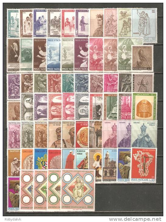 VAN02 - VATICANO 1965/1973 - Condizione Mista - (*/**) - Collezioni