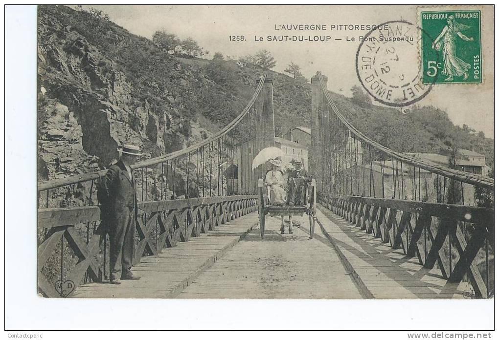 AUZAT La COMBELLE  ( 63 )  - LE  SAUT Du LOUP   -Le Pont Suspendu - Francia