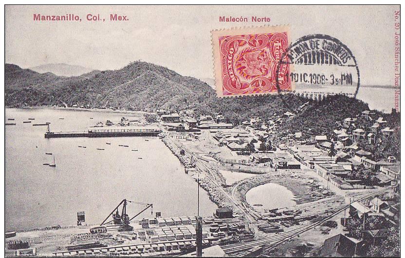 Ac -  Cpa Mexico, Manzanillo - Malecon Norte - Messico