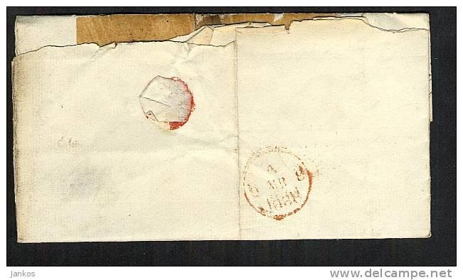 GB Ireland 1836 Folded Letter Dublin To London (V195) - ...-1840 Vorläufer