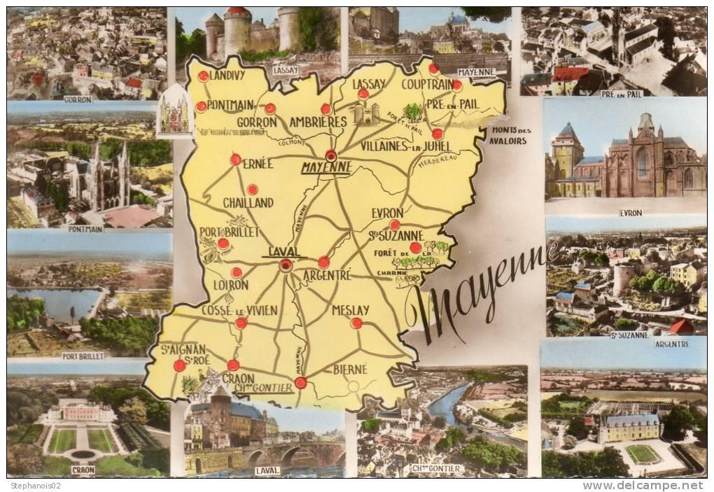 Cartes Geographiques.La Mayenne.53 - Cartes Géographiques