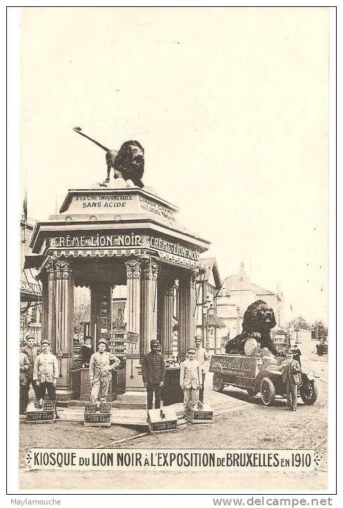 Bruxelles Expo 1910 Cirage Le Lion Noir   ( Rare - Universal Exhibitions