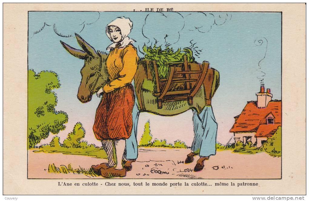 CPA 17  ILE-DE-RE ,l'Ane En Culotte. (fantaisie) J.Nozais. édit. - Ile De Ré