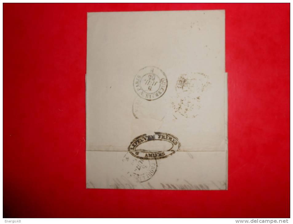Lot.f 19;LAC De  AMIENS;cachet   Ambulants Au Verso;nuance,variété A Etudier(filet Cassé) - 1862 Napoleone III