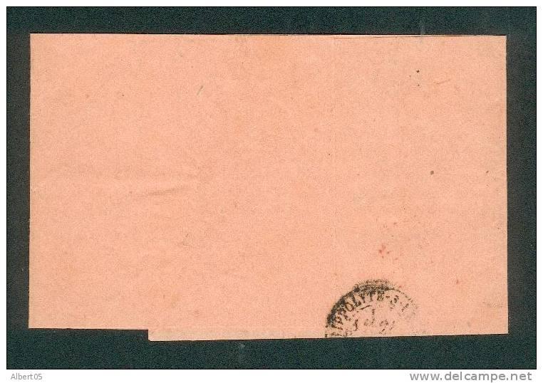 """Bande Du Journal Correspondance Bleue Avec Timbre A Date """"Imprimés 3 Paris  P.P. 37 """" Rouge - Marcophilie (Lettres)"""