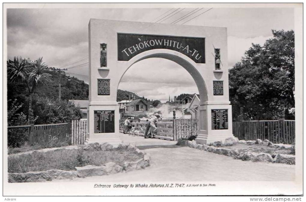 Neuseeland, New Zealand, Whakarewarewa, Rotorua, Entrance Gateway To Whaka, 1930-1950 - Neuseeland
