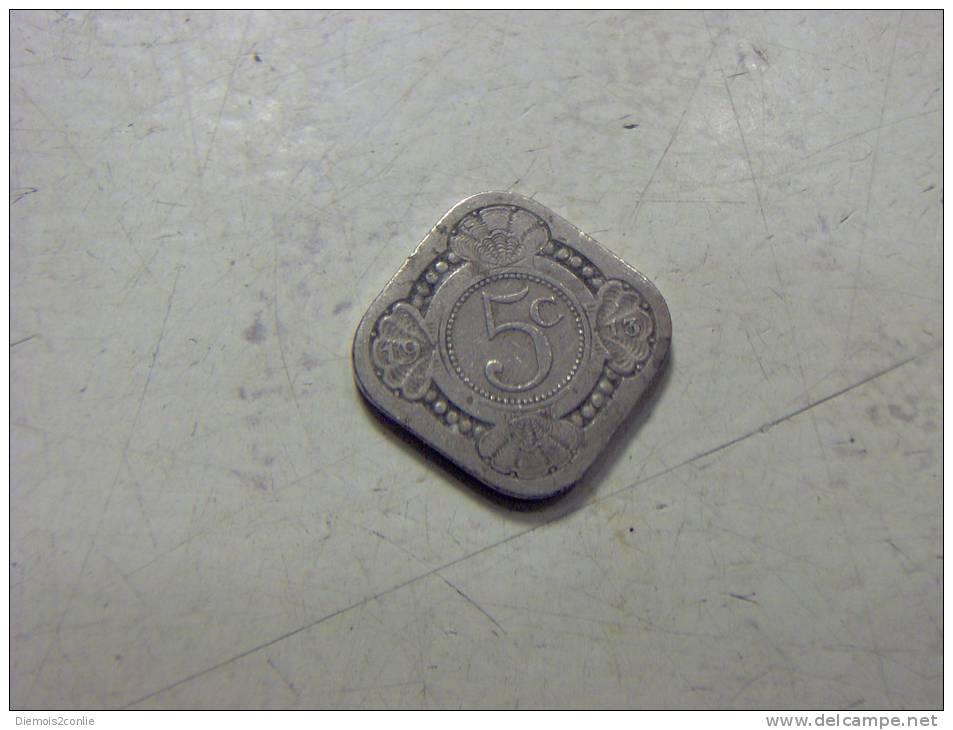 Assez Rare Piece Monnaie Pays-Bas 5 Cent. 1913 (7/8) - [10] Collections