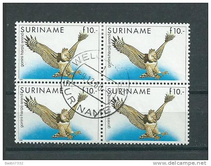 1986 Suriname 4x Birds Of Prey,roofvogels Used/gebruikt/oblitere..cat. Value 60 Euro...LOW START!!!! - Collections (en Albums)
