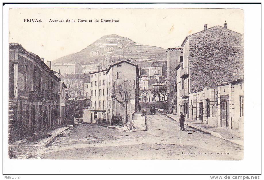PRIVAS  --  Avenues De La Gare Et De Chomérac - Privas