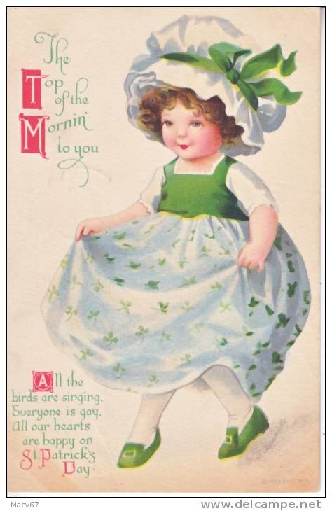 St. Patrick´s Day   Artist Signed CLAPSADDLE  (o) 1919 - Saint-Patrick's Day