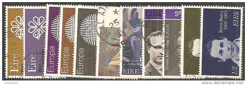 Irlanda 1970 Usato - Mi. 237/45; 248/49 Annata 11 Valori - Usati