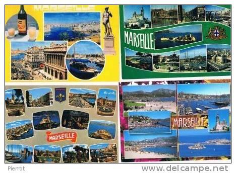 200213G Lot De 94 CPM Couleur Vierges Pour Courrier : Dep.13 Marseille (uniquement Des Multi-vues) - Cartes Postales