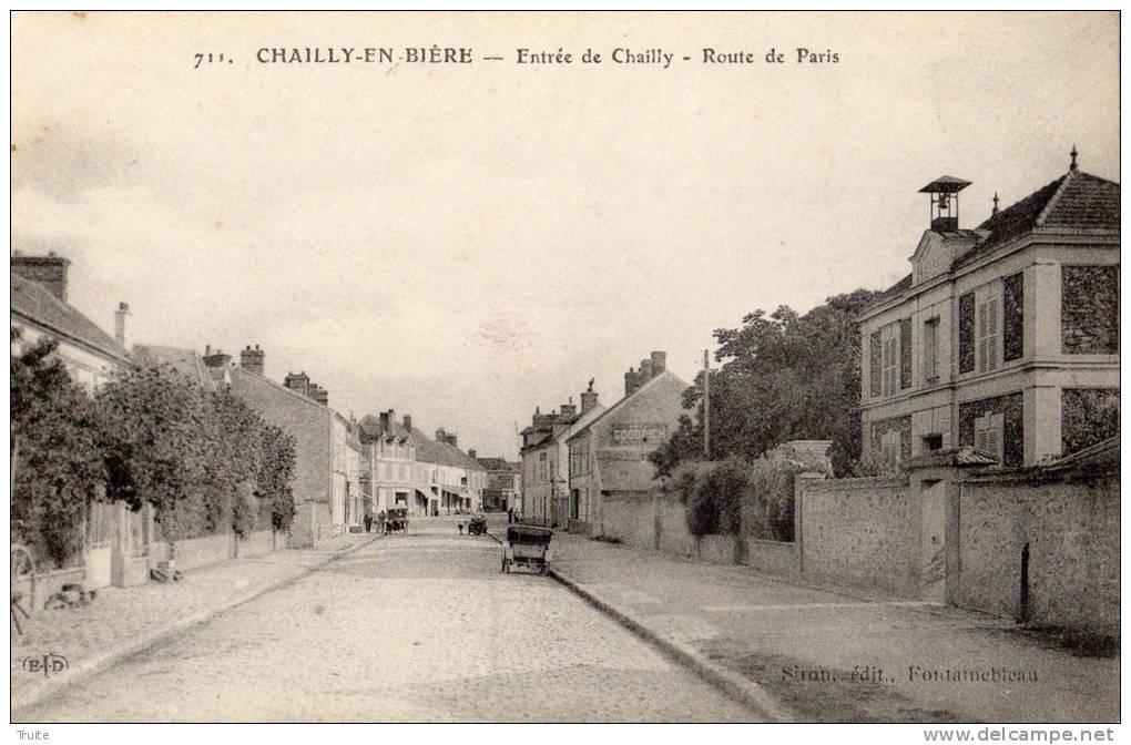 CHAILLY-EN-BIERE ENTREE DE CHAILLY ROUTE DE PARIS - France