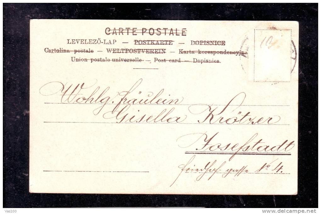 LOEFFLER,WOMAN,ORIGINAL VINTAGE POSTCARD - Loeffler