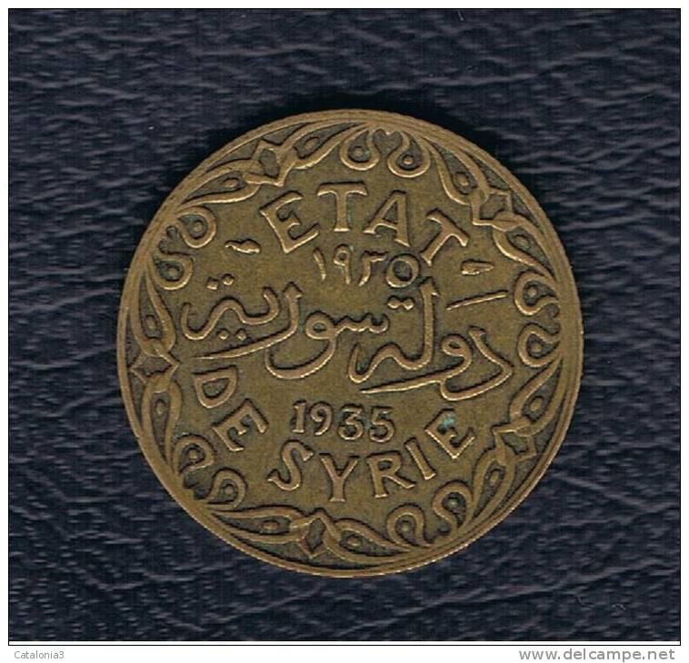 SIRIA / SYRIA - PROTECTORADO FRANCES -  5 Piastre 1935   KM70 - Siria