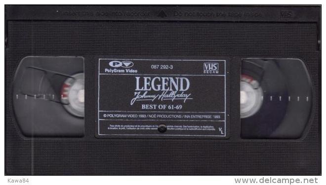 """V-H-S  Johnny Hallyday  """"  Legend   """" - Concert Et Musique"""