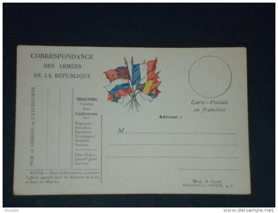 (2778) Correspondance Des Armees Neuf Mod B - Armee Army Fieldpost - Cartes De Franchise Militaire