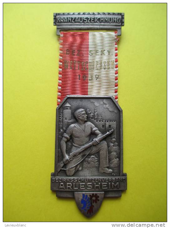 Tir Fusil/Kranz Auszeichnung /SCHÜTZEN-VERBAND/SUISSE/ Kramer /Neuchâtel/1939     SUI21 - Sports
