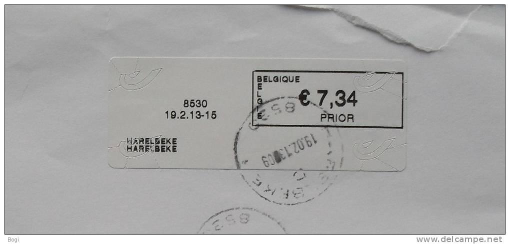 België 2013 Harelbeke 8530 Nieuw Type Bpost (fragment) - Frankeervignetten
