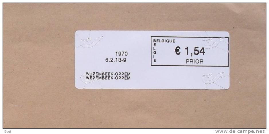 België 2013 Wezembeek-Oppem 1970 Nieuw Type Bpost (fragment) - Frankeervignetten