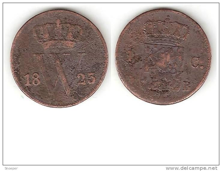 *netherlands  1 Cent 1823 B Km 47   FR+ - 1815-1840 : Willem I