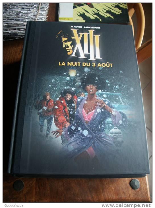 XIII T7 LA NUIT DU 3 AOUT    DOS TOILE  VAN HAMME VANCE - XIII