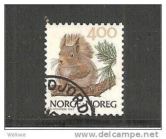 NorMi.Nr.1011 - NORWEGEN - / Eichhoernchen 1989 O - Gebruikt