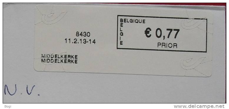België 2013 Middelkerke 8430 - Nieuw Logo Bpost - Vignettes D'affranchissement