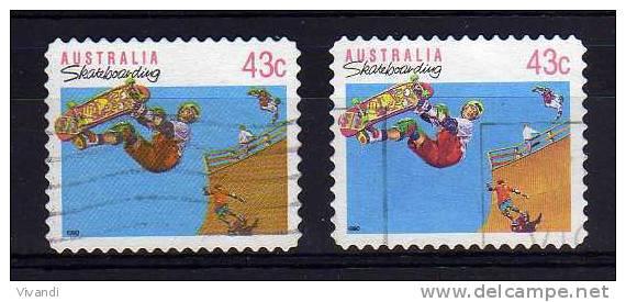 Australia - 1990/91 - 43 Cents Skateboarding (Perf 11½, Typo & Litho Printings) - Used - 1990-99 Elizabeth II