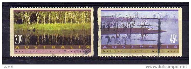 Australia - 1992 - Wetlands & Waterways (Perf 14½ X Imperf) - Used - Oblitérés