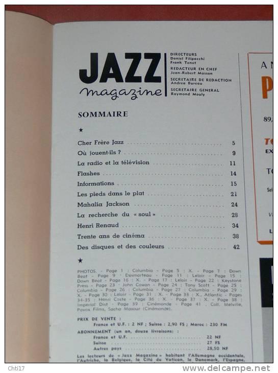 JAZZ MAGAZINE AVRIL 1961  N° 69  MAHALIA JACKSON / HENRI RENAUD / JR MASSON / LE SOUL - Musique