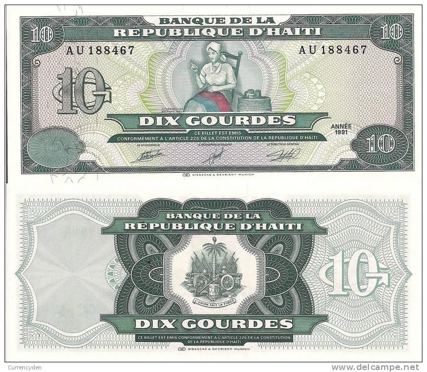 Haiti P256, 10 Gourde, Betsy Ross Of Haiti Making Flag - Haiti