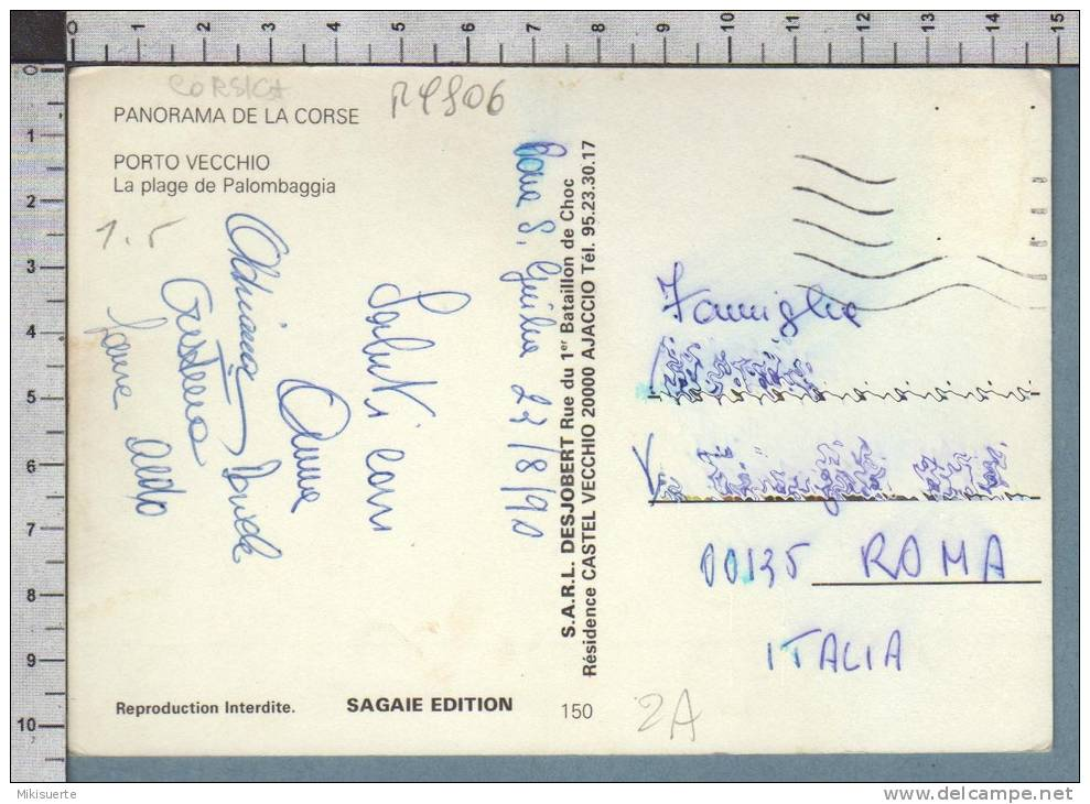 R9806 PORTO VECCHIO 2A CORSE LA PLAGE DE PALOMBAGGIA VG SB - France