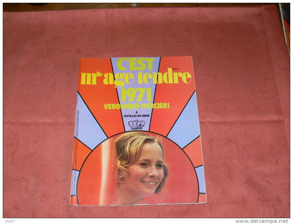 MLLE AGE TENDRE 1971 MAI   N° 80  SYLVIE VARTAN /  HALLIDAY/  GAINSBOURG / BIRKIN - Musique