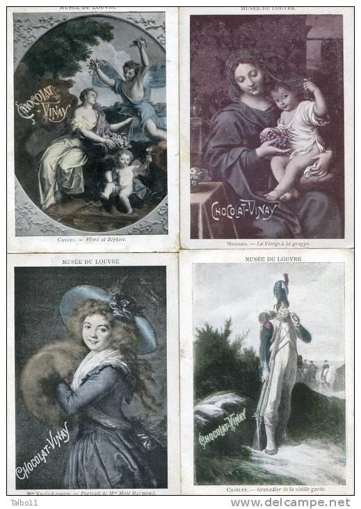 Lot De 13 Chromos - Chocolat VINAY - Musées Du Louvre Et Du Luxembourg - Chocolat