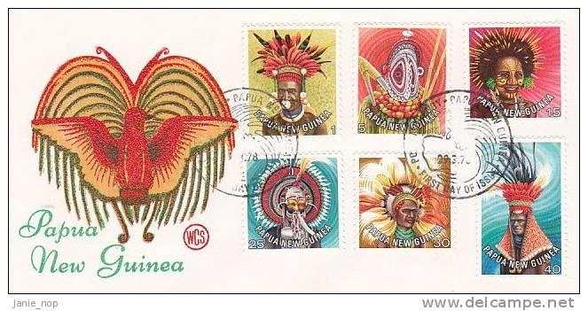 Papua New Guinea 1977 Definitive Hairdresser, Dated 29-Mar-1978  Wesley FDC  - Papoea-Nieuw-Guinea